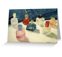 Perfume Bottles Greeting Card