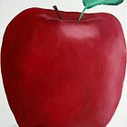 Big Red Apple by Patricia Cleasby