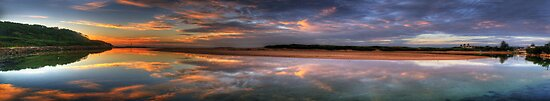 Don't Worry Be Happy !  (35 Exposure HDR Panorama) - Narrabeen Lakes Entrance, Sydney - The HDR Experience by Philip Johnson