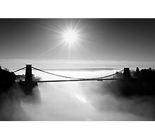 Clouds under the Clifton Suspension Bridge Photographic Print