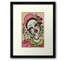 MISS PINK Framed Print