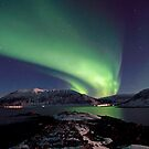 Aurora Borealis - Towards Grytoya island-2 by Frank Olsen