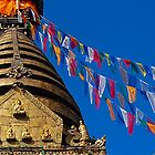 """13 Stages to Nirvana"" - Swayambhunath Stupa by Breanna Stewart"