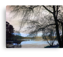 When You're Down by the Riverside Canvas Print