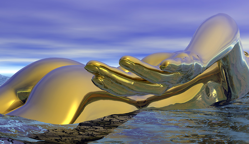 The Golden Swimmer by Hugh Fathers
