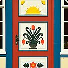 MVP39 Decorative Darss door,  Prerow, Germany. by David A. L. Davies