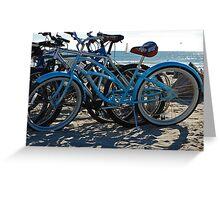 Beach Bikes Greeting Card