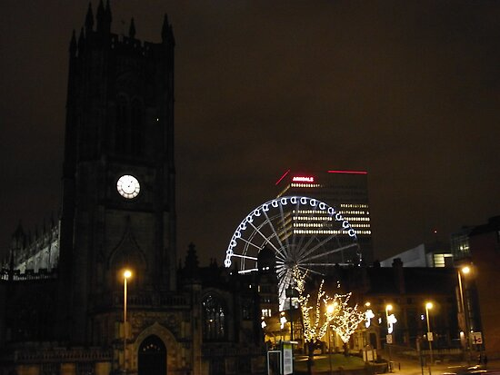 manchester at night by pinkyosborne