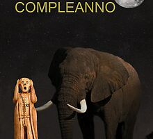 The Scream World Tour African Elephant Happy birthday Italian by Eric Kempson