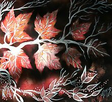 Autumn Maples and Winter Berries by linmarie