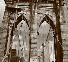 Brooklyn Bridge - New York City by Frank Romeo