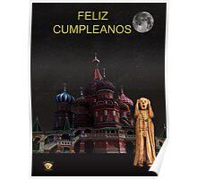 The Scream World Tour Moscow Happy birthday Spanish Poster