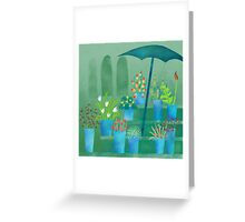 Flower Stall Greeting Card