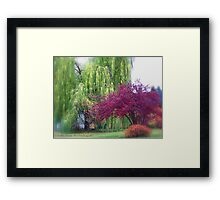 Looking Back on Autumn Framed Print
