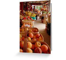 Fresh Georgia Peaches Aroma Greeting Card