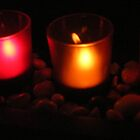 colorful candles by Michelle Hoffmann