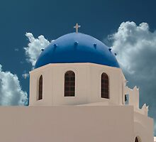 Santorini Greece Church by ╰⊰✿ℒᵒᶹᵉ Bonita✿⊱╮ Lalonde✿⊱╮