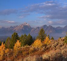 Grand Teton Autumn by Stephen Vecchiotti