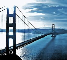 Blue Day @ Golden Gate Bridge by Cleber Photography Design
