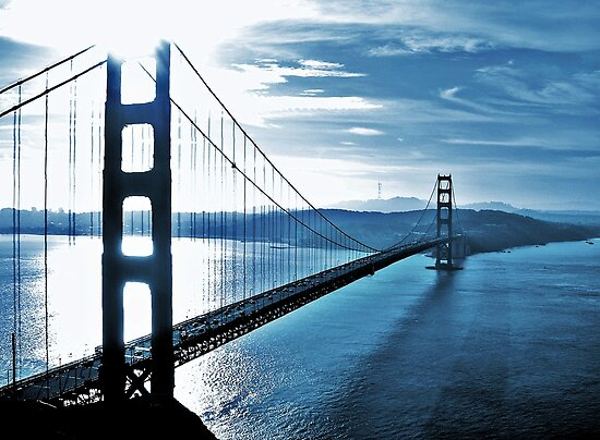 Blue Day Golden Gate Bridge By Cleber Photography