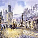 Prague Charles Bridge Mala Strana  by Yuriy Shevchuk