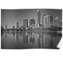 Austin Skyline Reflection in Shades Poster