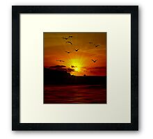 THE SUNSET OF MY LIFE Framed Print