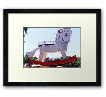The Big Rocking Horse Framed Print
