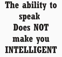 Speaking Intelligently by Craig Stronner
