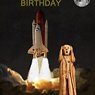 The Scream World Tour Space Shuttle Happy Birthday by Eric Kempson