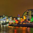 Tower Bridge and HMS Belfast - HDR by Colin J Williams Photography