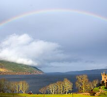 Rainbow over Loch Ness.  by garrethevans