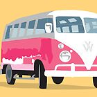 VW camper van in sunshine by Victoria Ellis