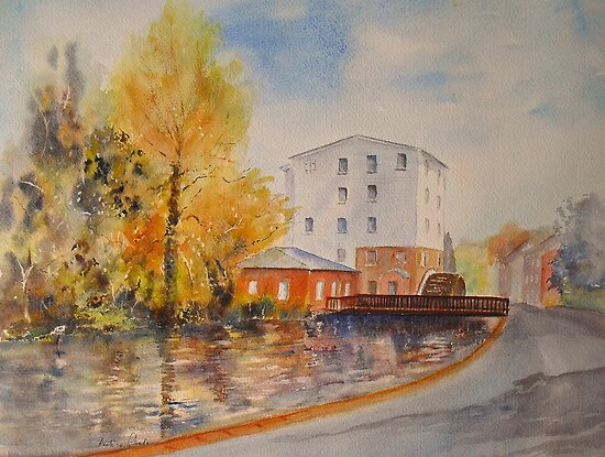 The water mill - River nr Dover by Beatrice Cloake