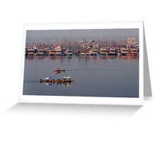 Shikaras and Houseboats at Dal Lake Greeting Card