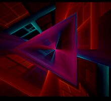 Going Down - Fractal Notecard - Horizontal  by owlspook