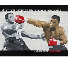 Mike Tyson - My Style... Photographic Print