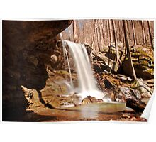 Emory Gap Falls, Frozen Head State Park, Tennessee Poster