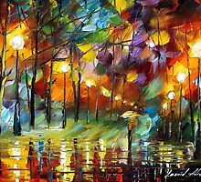 Rain Drops - original oil painting on canvas by Leonid Afremov by Leonid  Afremov