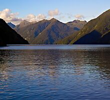 Approaching Hall Arm, Doubtful Sound NZ by Odille Esmonde-Morgan