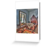 Victorian Bedroom Greeting Card