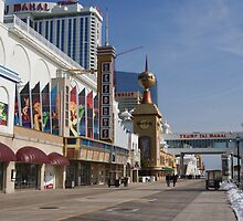 Atlantic City Resorts Boardwalk by Margie Avellino