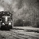 Santa Travels By Train by MeanChristine