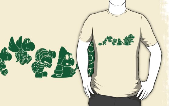 Reptilian Evolution in The Mushroom Kingdom (Green) by rtofirefly