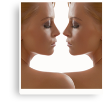 The Twins; face to face. Canvas Print