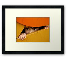 Hide and seek.... Framed Print