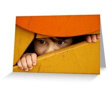 Hide and seek.... Greeting Card
