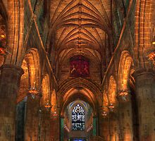 St Giles Cathedral Edinburgh Internal Shot  by Paul  Gibb