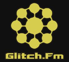 Glitch.Fm Logo - Yellow by David Avatara