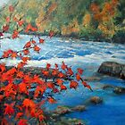 Fast Flowing - River in New England by Patricia Sabin